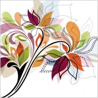 Link toFlower design element vector illustration