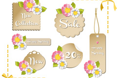 Link toFlower discount tag vector