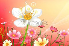 Flower fantasy background vector