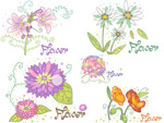 Link toFlower floral designs vector
