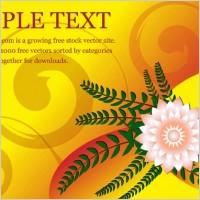 Link toFlower greeting card vector