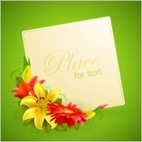 Link toFlower greeting cards 02 vector