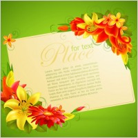 Link toFlower greeting cards 05 vector