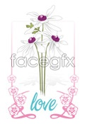 Link toFlower lace love vector