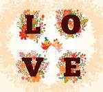 Link toFlower love wordart vector