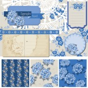 Link toFlower pattern and labels with border design elements vector 04 free