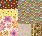 Flower polka dot decorations vector