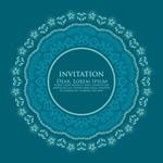 Link toFlower ring invitations vector