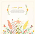Link toFlower text background vector