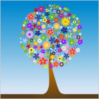 Link toFlower tree vector