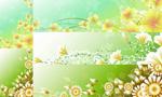 Link toFlower vine background vector