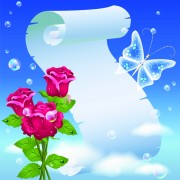 Link toFlower with paper dream background vector 03 free