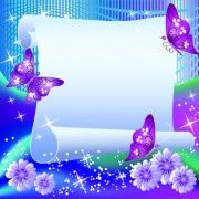 Link toFlower with paper dream background vector 04 free