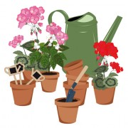 Link toFlowerpot and flower vector set 04 free
