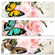 Link toFlowers and butterflies banners vectors 02 free