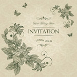Link toFlowers and butterflies invitations vector