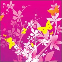 Link toFlowers and butterflies vector