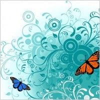 Link toFlowers and butterfly free vector graphics