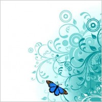 Link toFlowers and butterfly vector
