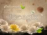 Link toFlowers and creative templates 1 psd