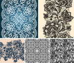 Link toFlowers and lace shade vector