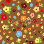 Link toFlowers and leaves background vector