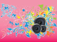 Link toFlowers and music vector free