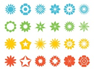 Link toFlowers and stars set vector free