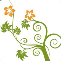 Link toFlowers and swirls vector graphic