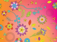 Link toFlowers background vector free