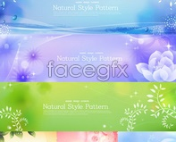 Link tovector patterns bright banners banners Flowers