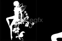 Link toFlowers beautiful fairy silhouette vector