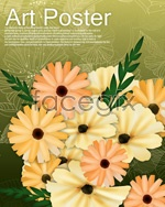 Link toFlowers flowers background psd