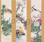 Link toFlowers in traditional chinese painting psd
