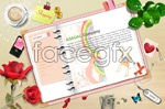 Link toFlowers notepad psd