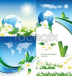 Link toFlowers of the sky background vector