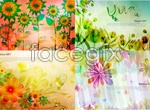 Link toFlowers painting flowers background vector