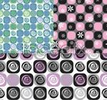 Link toFlowers pattern wallpaper vector