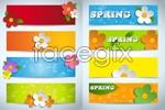Link toFlowers spring banner vector
