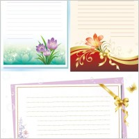 Link toFlowers stationery vector