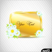 Link toFlowers vector 2 and texture border