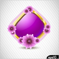 Link toFlowers vector 5 and texture border