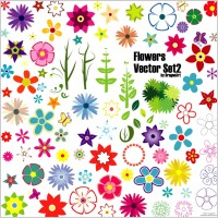 Link toFlowers vector set 2