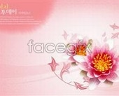 Link toFlowery background psd