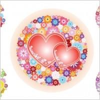 Link toFlowery hearts vector