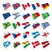 Link toFlowing flags icons vector free