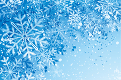 Link toFlying blue snowflake background vector