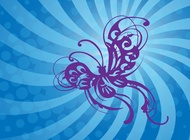 Link toFlying butterfly graphics vector free