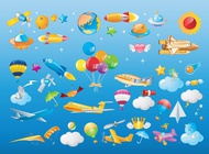 Link toFlying objects vector free
