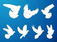 Link toFlying pigeons set vector free